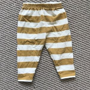 Other - Mustard yellow striped leggings